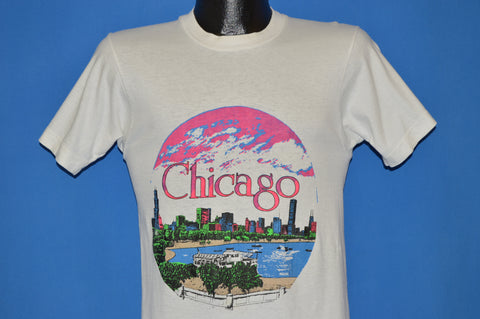80s Chicago Sunset Skyline t-shirt Small