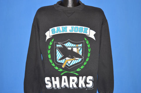 90s San Jose Sharks Logo Sweatshirt Large