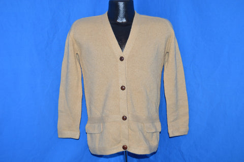 50s Abercrombie & Fitch Camel Hair Cardigan Sweater Small