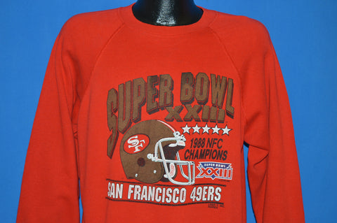 80s San Francisco 49ers Super Bowl XXIII Sweatshirt Large