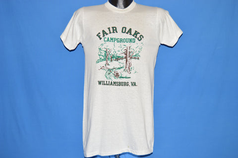 70s Fair Oaks Campground Raccoon Rabbit Deadstock t-shirt Small