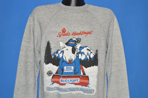 80s Spuds Mackenzie Bud Light Sledding Sweatshirt Medium
