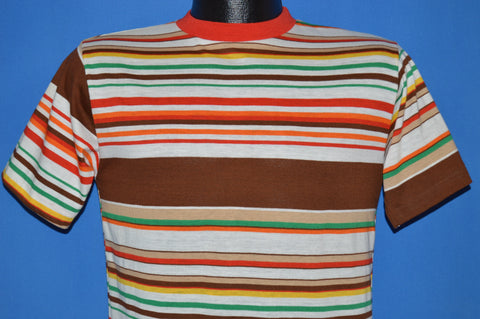 70s Striped Orange Surf t-shirt Small