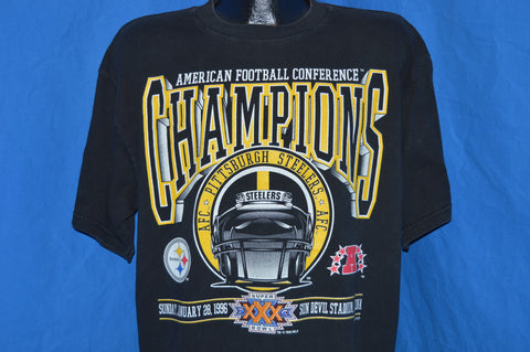 90s Pittsburgh Steelers AFC Champs Super Bowl XXX t-shirt Extra-Large