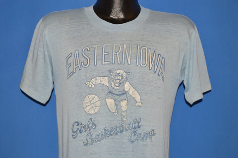 80s Eastern Iowa Girls Basketball Camp Distressed t-shirt Medium
