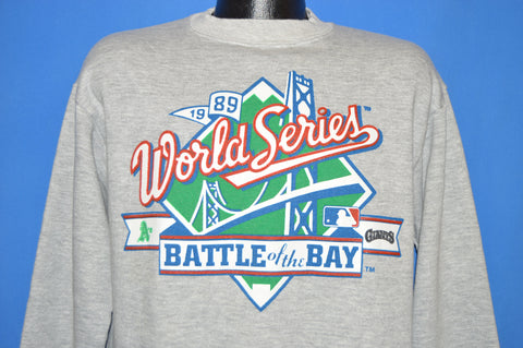 80s Battle Of The Bay 1989 World Series Sweatshirt Medium