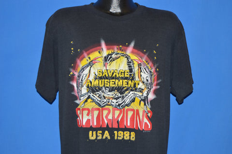 80s Scorpions Savage Amusement Tour t-shirt Extra Large