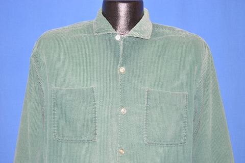 60s Green Corduroy Shirt Jac Large