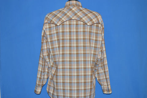 80s Levi's Plaid Western Cowboy Shirt Large
