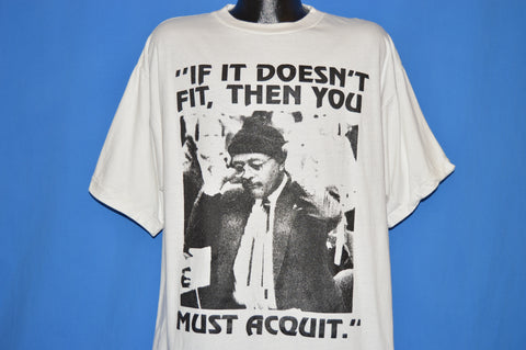 90s OJ Simpson Johnny Cochran Must Acquit t-shirt Extra Large