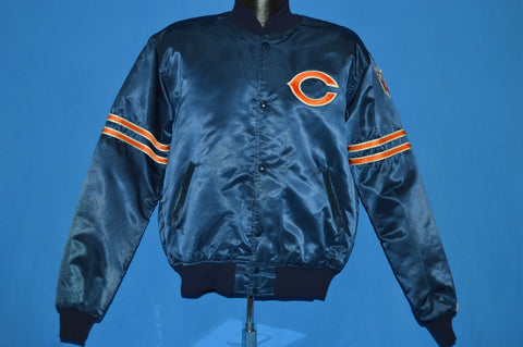 80s Chicago Bears NFL Satin Snap Up Jacket Large