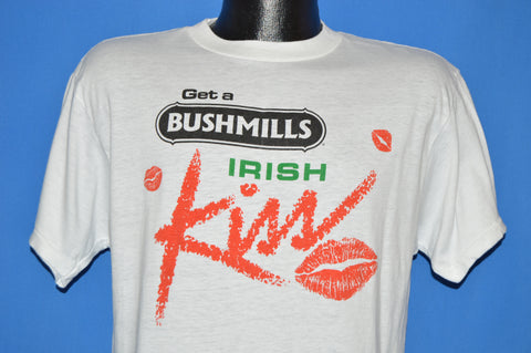 80s Get A Bushmills Irish Kiss Whiskey t-shirt Large