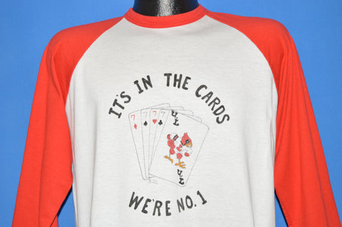 80s Louisville Cardinals It's In The Cards 1986 t-shirt Large