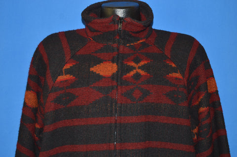 80s Woolrich Tribal Wool Jacket Large