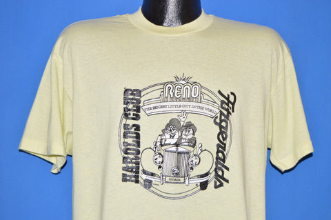 80s Harold's Club Reno Fitzgerald's Casino t-shirt Extra Large