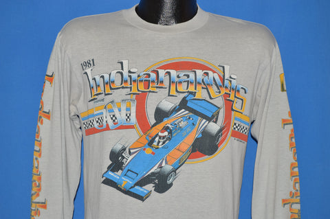 80s Indianapolis 500 1981 Long Sleeve t-shirt Medium