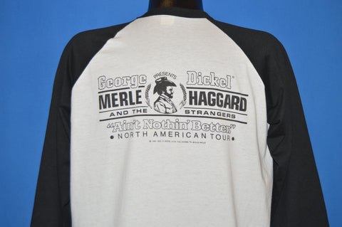 80s Merle Haggard Ain't Nothin' Better Tour 1987 t-shirt Extra Large