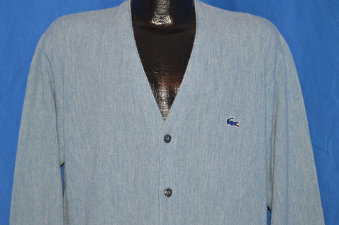70s Izod Lacoste Cardigan Sweater Large