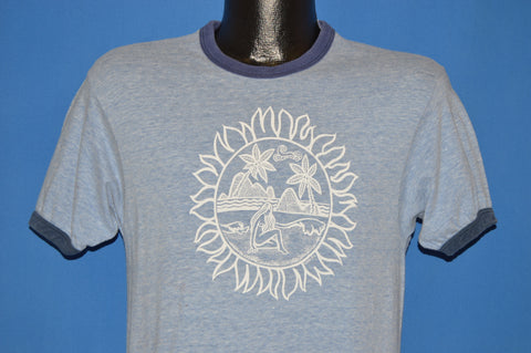 70s Beach Sunset Ringer t-shirt Small