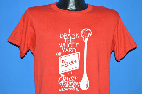 80s I Drank The Whole Yard Of Stroh's Wildwood, NJ t-shirt Medium