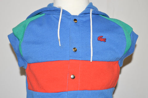 80s IZOD Lacoste Striped Sleeveless Sweatshirt 2T