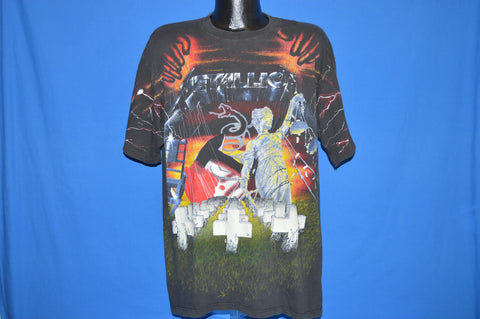 90s Metallica First Five Albums Cover Art t-shirt Extra Large