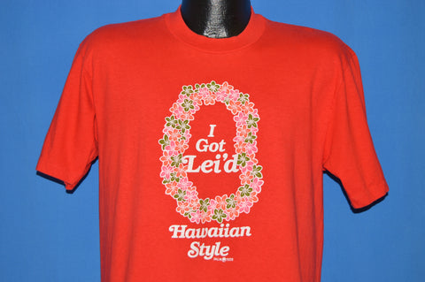 80s I Got Lei'd Hawaiian Style Tourist t-shirt Large