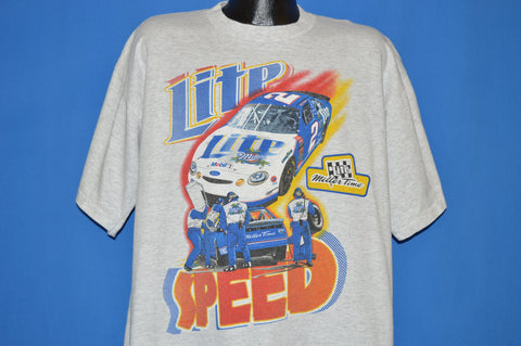 90s Rusty Wallace Miller Lite t-shirt Extra Large