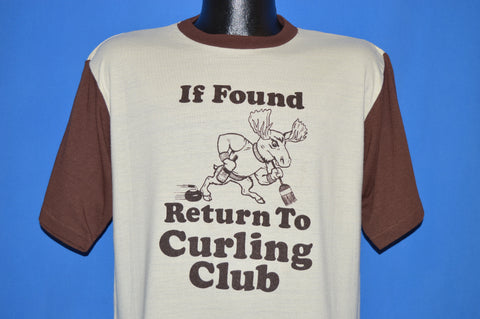 80s If Found Return To Curling Club Alaska t-shirt Large