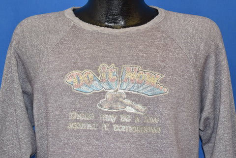 70s There May Be A Law Against It Tomorrow Sweatshirt Large