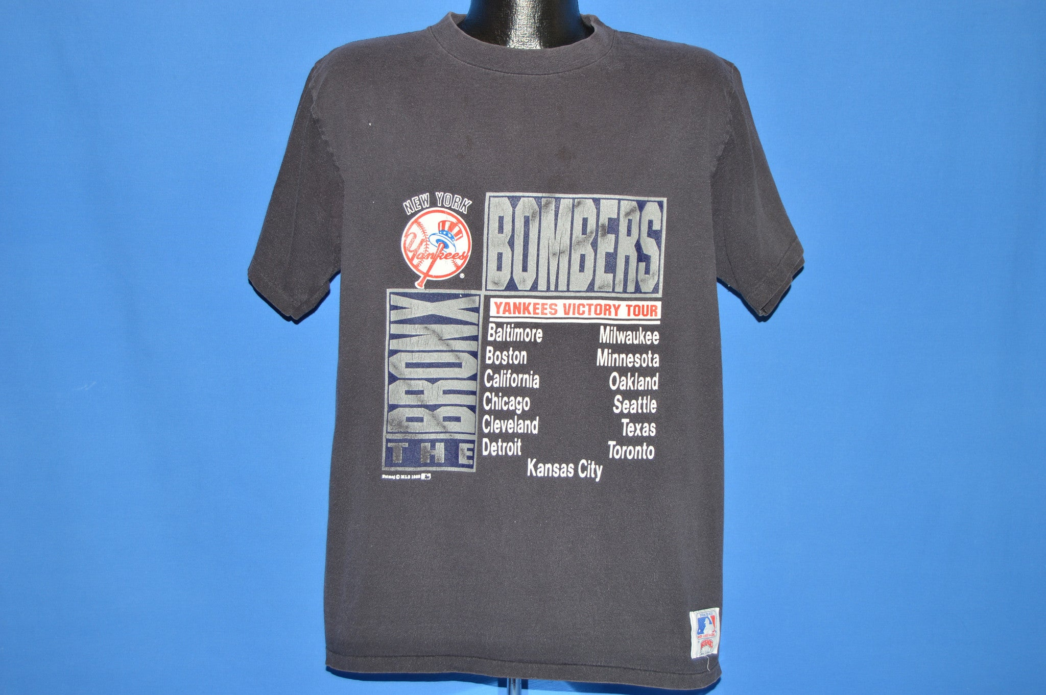 90s New York Yankees Bronx Bombers t-shirt Large - The Captains Vintage 4f9104bd2be