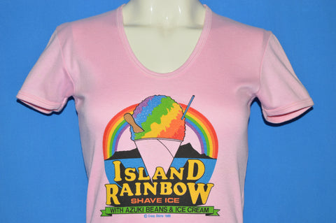 80s Hawaii Island Rainbow Shave Ice Women's t-shirt Large