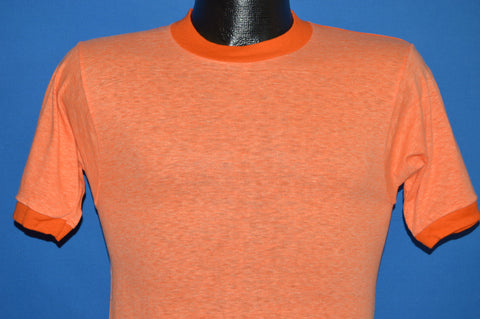 70s Heathered Orange Deadstock Ringer t-shirt Extra Small
