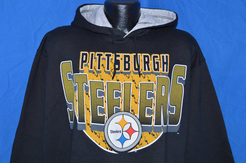 90s Pittsburgh Steelers Hooded Sweatshirt XL