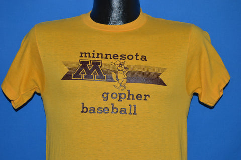 80s Minnesota Golden Gopher Baseball t-shirt Small
