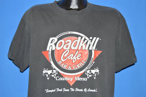90s Road Kill Cafe Cowboy Menu t-shirt Extra Large