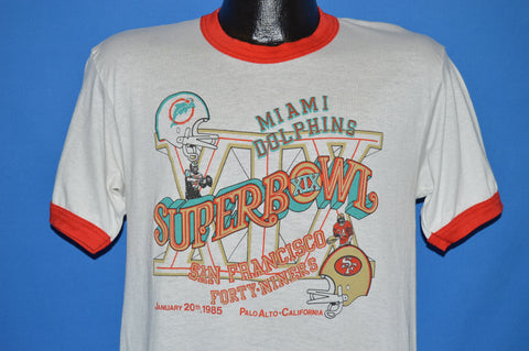 80s San Francisco 49ers Dolphins Super Bowl XIV t-shirt Medium