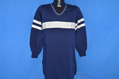 80s Striped Acrylic Night Sweatshirt Medium