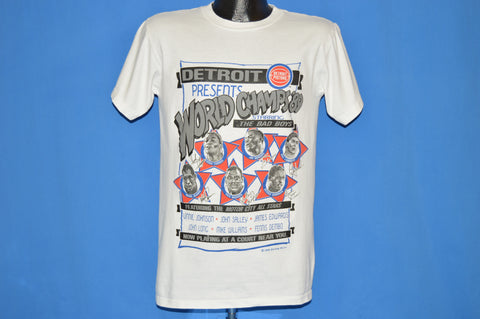 80s Detroit Pistons 1989 NBA Champs t-shirt Medium