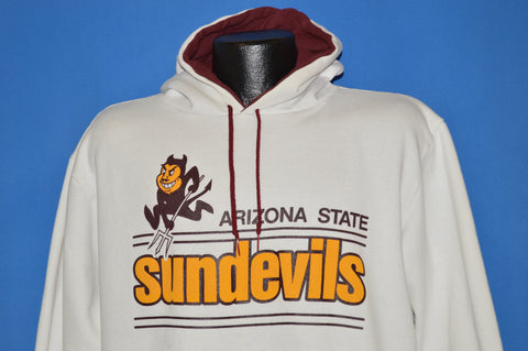 80s Arizona State Sun Devils Hooded Sweatshirt Extra Large
