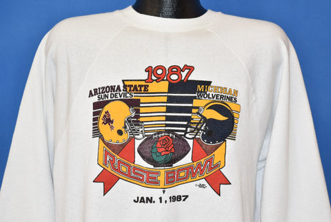 80s Rose Bowl 1987 Sun Devils Vs Wolverines Sweatshirt Large