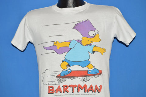 90s The Simpsons Bartman Skateboard t-shirt Youth Large