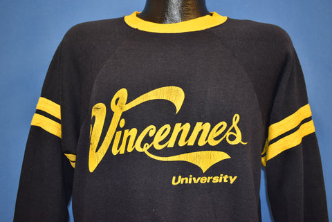 70s Vincennes University Raglan Sweatshirt Large