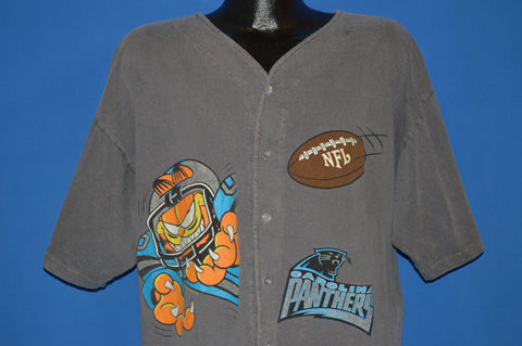 90s Carolina Panthers Garfield Jersey t-shirt Large