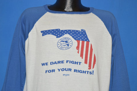80s Florida AFL-CIO Fight For Your Rights t-shirt Extra Large