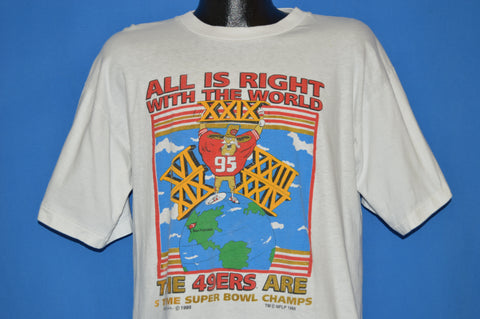 90s San Francisco 49ers Super Bowl XXIX t-shirt Large