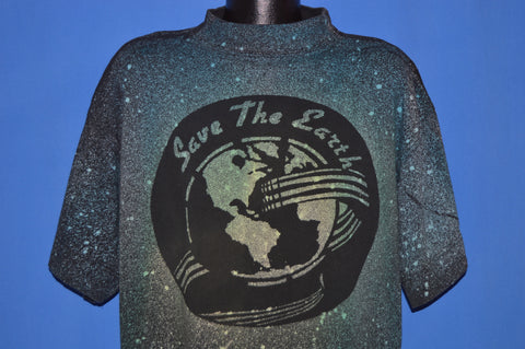 90s Save The Earth Neon All Over Print t-shirt Large
