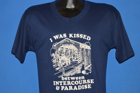 80s Kissed Between Intercourse and Paradise t-shirt Medium