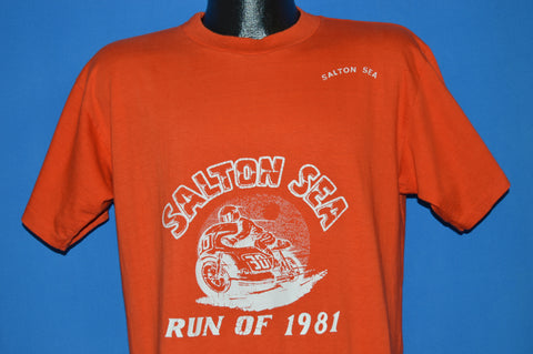 80s Salton Sea Motorcycle Run 1981 t-shirt Large