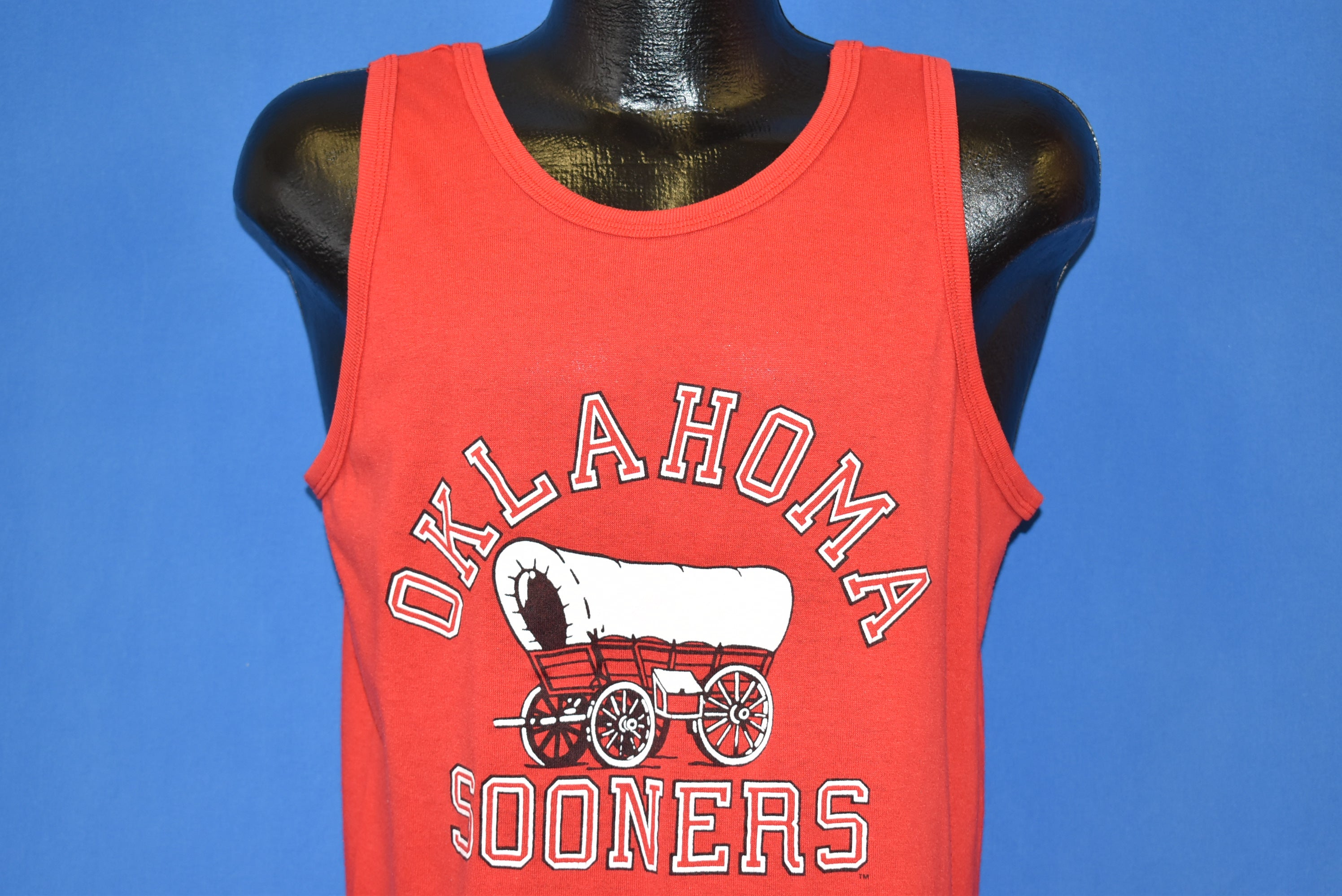 super cute 282ff 5b580 80s Oklahoma Sooners Football Sleeveless t-shirt Large - The ...